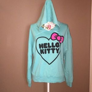 XL Hello Kitty Crop Hoodie